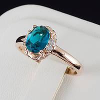 Привлекательное кольцо с кристаллами Swarovski и c позолотой 0473