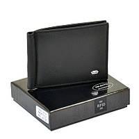 Удобный кожаный кошелек - зажим Dr. Bond RFID мужской черный. , фото 1