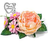 Шпилька квіти з фоамирана ручної роботи для волосся
