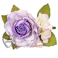 Шпилька квіти троянда з фоамирана ручної роботи для волосся