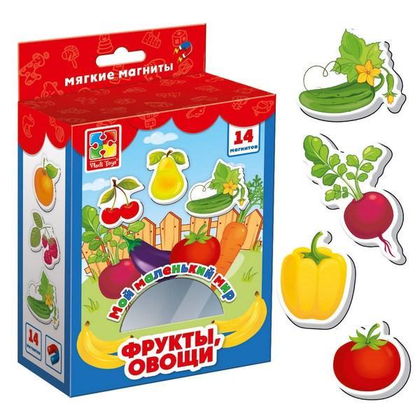 Игра Vladi Toys Мой маленький мир на магнитах Овощи, фрукты (Рус) (VT3106-03)