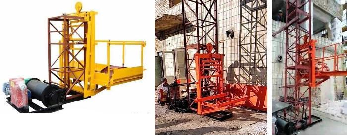 Висота підйому Н-47 метрів. Будівельний підйомник, Будівельні, Щоглові Вантажні 1 тонна, 1000 кг.