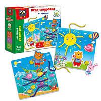 Игра-шнуровка с липучками Vladi Toys На природе (Рус) (VT5303-02)