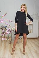 Стеганное платье черное, фото 1