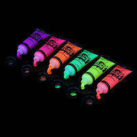 Светящиеся краски светятся в темноте  (цена за 1шт 10грам) в неоне, ультрафиолете