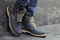 08e0fddef154 Ботинки мужские коламбия зимние темно-синие кожаные нубук с мехом (реплика)  Columbia Dark