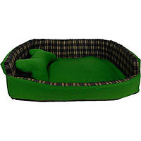 AnimAll Диван с косточкой для собак Зеленый 70х62х16см
