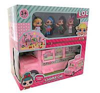 Игровой набор куклы лол с автобусом LOL-01. Куклы L.O.L с автобусом