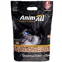 AnimAll (Энимал) наполнитель древесный для котов, 5.3 кг, 300 г бесплатно.