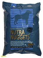 NUTRA NUGGETS Maintenance  15кг корм супер-премиум класса для собак с умеренной активностью