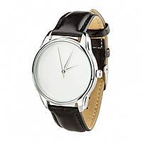 Часы ZiZ Минимализм (ремешок насыщенно - черный, серебро) + дополнительный ремешок (4600153), фото 1