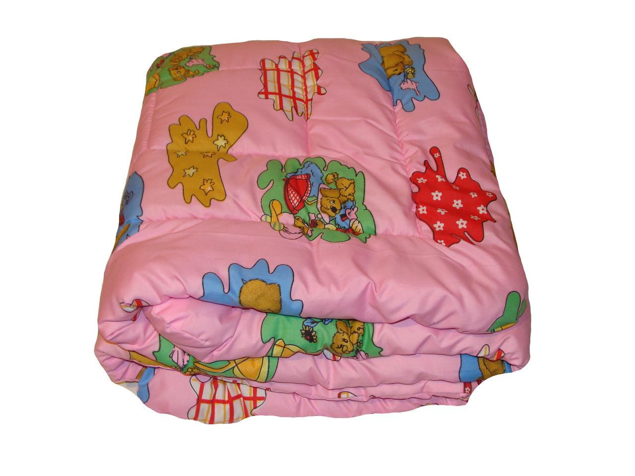 Детское одеяло закрытое овечья шерсть (Поликоттон) 110x140 #1037 - фото 2