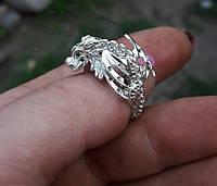 Дракон кольцо серебро