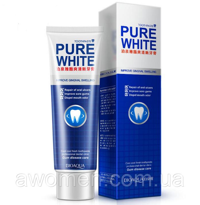 Зубная укрепляющая гелевая зубная BIOAQUA Pure White с экстрактом мяты (120г)