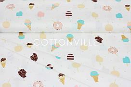 Сатин-твил Пончики и мороженое