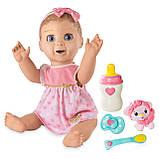 РУССКОЯЗЫЧНАЯ Интерактивная кукла Spin Master Luvabella / Лувабелла Blonde Hair Interactive Baby Doll, фото 4