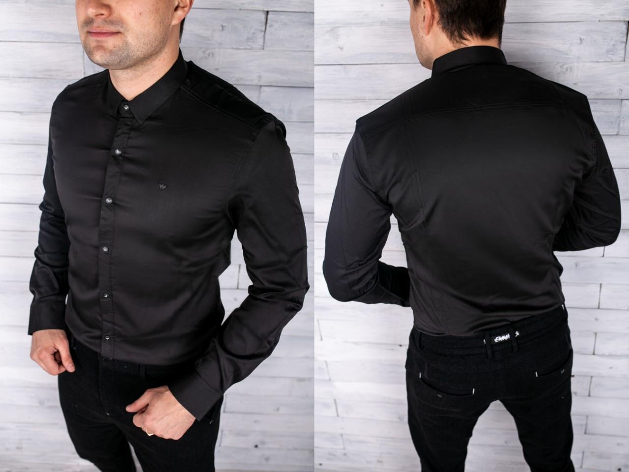Мужская рубашка Armani Материал: 95% cotton, 5% lycra  ️Размеры: L,XL,2XL,3XL,4XL