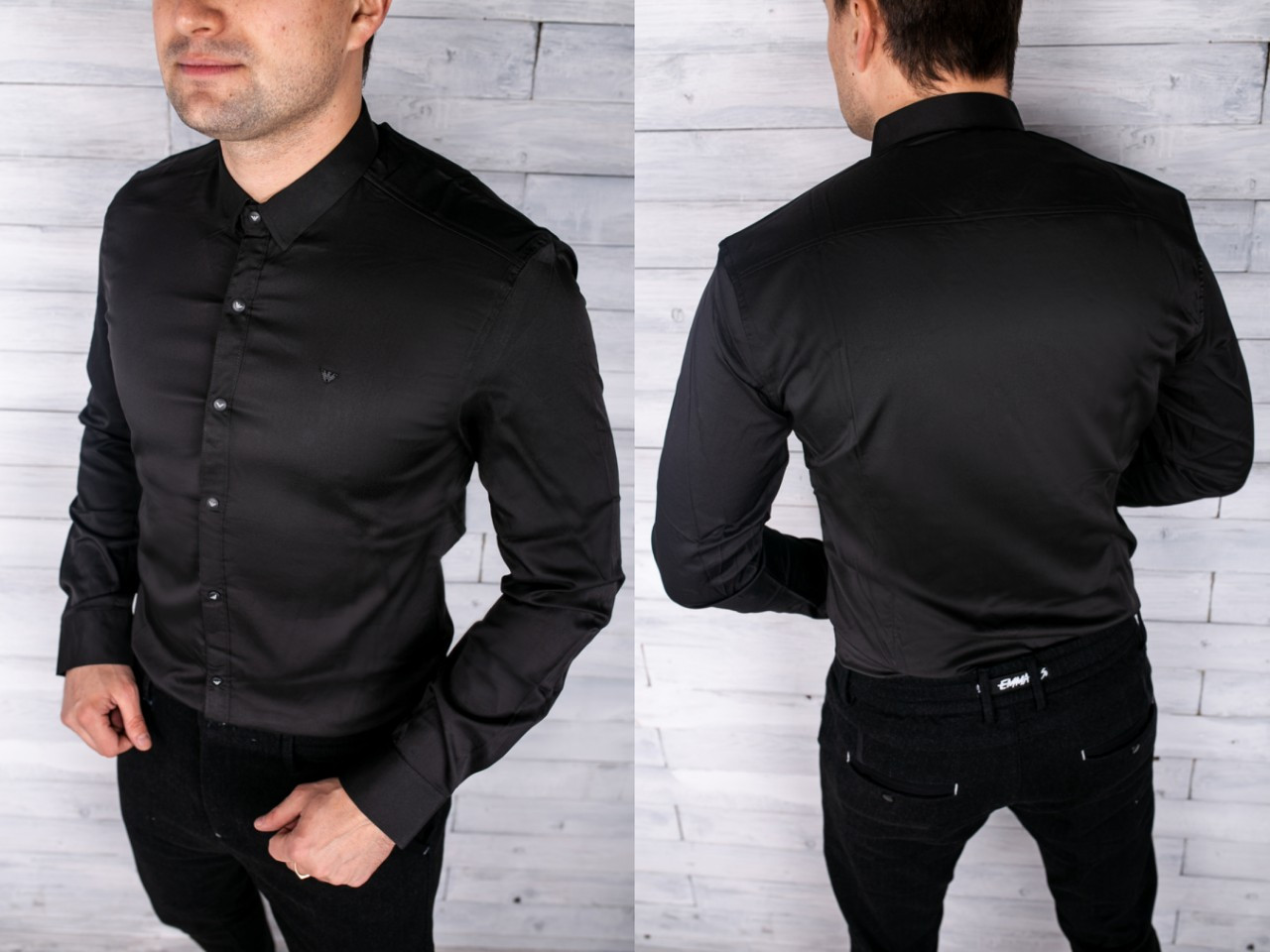 e86a0b6ddd1 Мужская рубашка Armani Материал  95% cotton