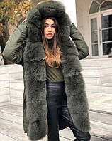 Зимняя женская парка с мехом, парка с мехом, куртка с мехом