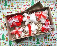Новогодние мягкие игрушки из фетра, фото 1