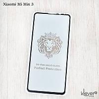 Защитное стекло 2,5D Full Glue для Xiaomi Mi Mix 3 (black) (клеится всей поверхностью (5D))