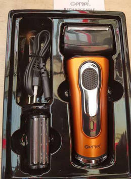Электробритва сеточная с триммером для бороды машинка для стрижки волос Gemei GM-7110
