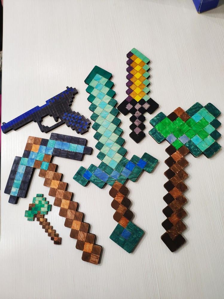 Меч - розмальовка Minecraft (меч - раскраска Майнкрафт ...