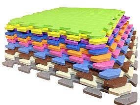 М'який килимок-пазл EVA SportMax 200х150 см, 12 елементів (з візерунком)