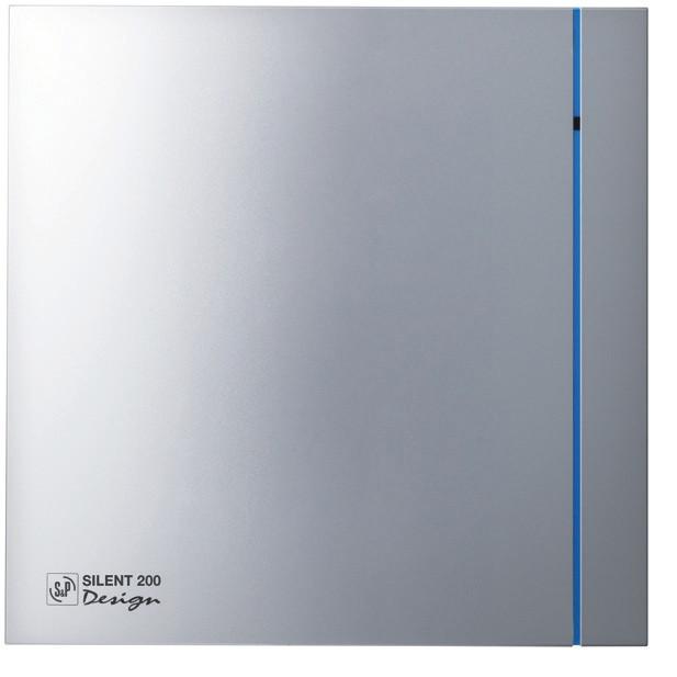 Вентилятор бытовой осевой S&P SILENT-200 CZ SILVER DESIGN - 3C (230V 50)