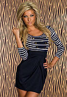 Платье в полоску, платье моряк, короткое платье, жіноче плаття, фото 1