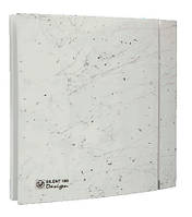 Вентилятор бытовой осевой S&P SILENT-200 CZ MARBLE WHITE DESIGN - 4C (230V 50)