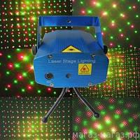 Лазерный проектор новогодний Mini Laser Stage Lightning