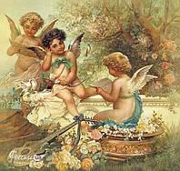 "Ханц Зацка ""Ангелочки"" - рельефная картина на гибкой штукатурке Vecchio 110смх104см"