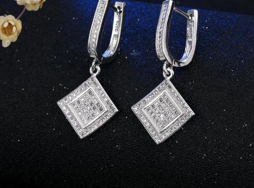 Комплект серебряных украшений из серебря 925 пробы, стерлинговое серебро, кубический цирконий