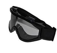 Тактическая(для страйкбола) кроссовая маска прозрачная