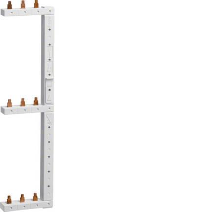 Шина фазная гребенчатая 3-полюса 63А 2-рядная правая, hager, фото 2