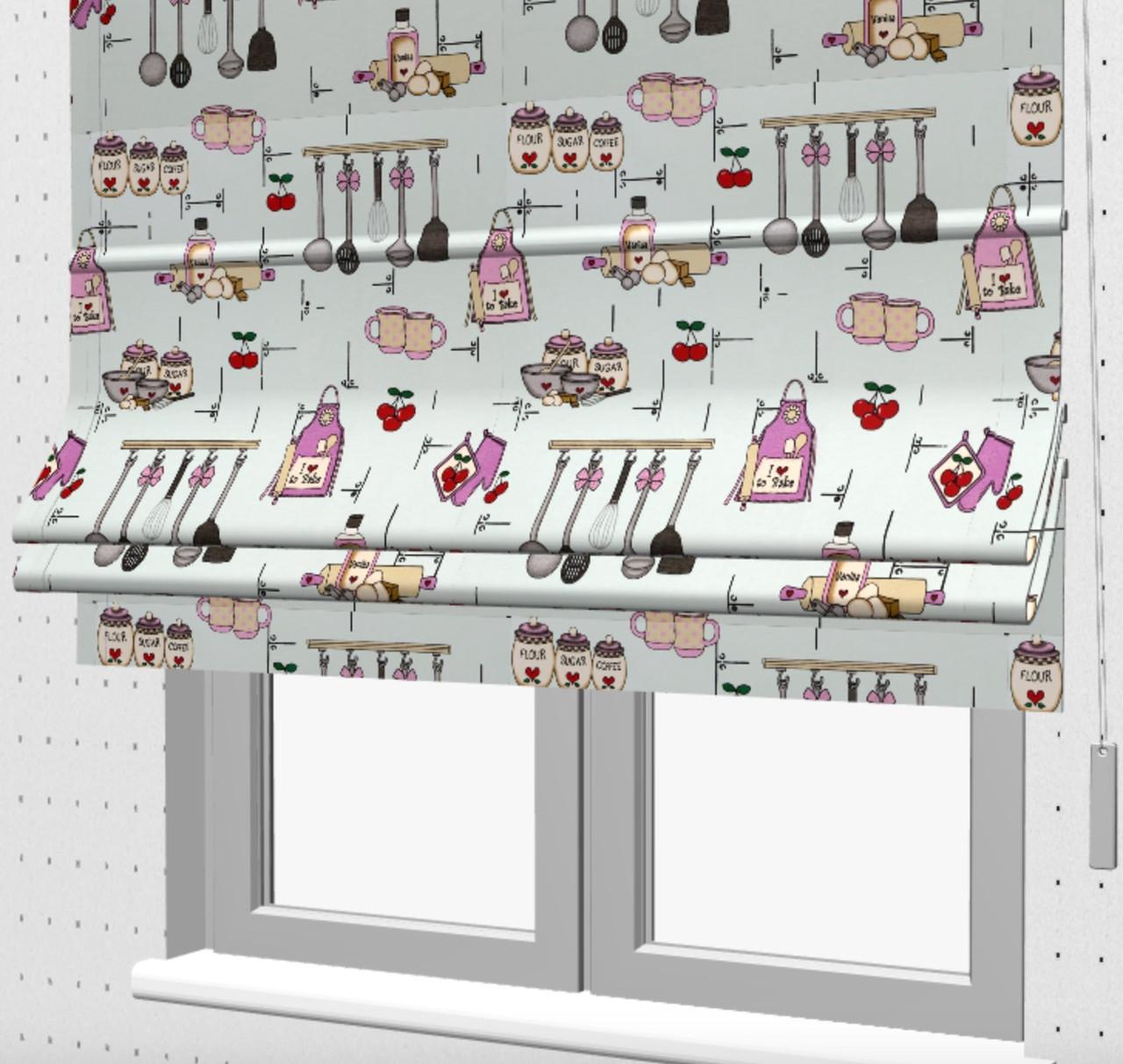 Римские шторы на кухню 121302v2