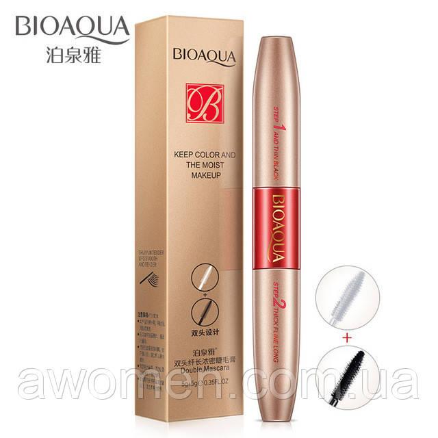 Двухсторонняя тушь BIOAQUA Double Mascara Keep Color 5 g +5 g
