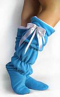 Тапочки-сапожки tf 28  высокие голубые