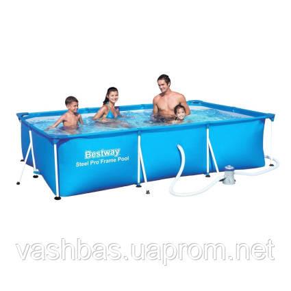 Bestway Каркасный бассейн Bestway 56424 (400х211х81) с картриджным фильтром