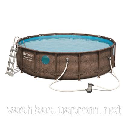 Bestway Каркасный бассейн Bestway Ротанг 56725 (488х122) с картриджным фильтром