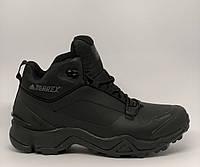 86eba0ff Ботинки мужские зимние Adidas Terrex Gore Tex Climaproof 818-5 черные  реплика