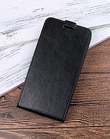 Кожаный чехол флип для Xiaomi Redmi 5 черный