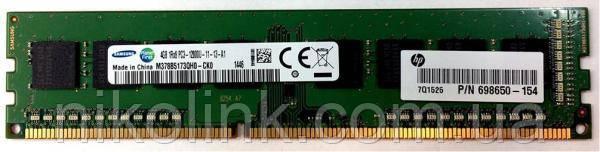 Память Samsung DDR3 4GB PC3-12800U (1600Mhz) (M378B5173QH0-CK0)(8x1) комиссионый товар
