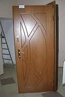 Двері вхідні металеві з плитами шпон дуб на  замовлення виготовляємо, фото 1