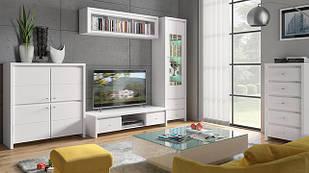 Комплект в вітальню (стенка в гостиную) Kaspian білий BRW 2