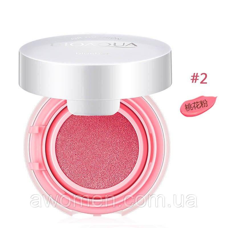 Румяна кушон bioaqua Smooth muscle 12 g №2 (Peach Pink)