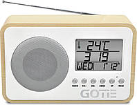 Радиобудильник GOTIE GRA-100S радио, часы, будильник