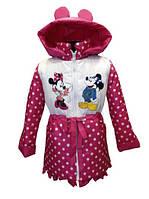 """Демисезонная куртка для девочки """"Микки Маусы"""" в горошек"""