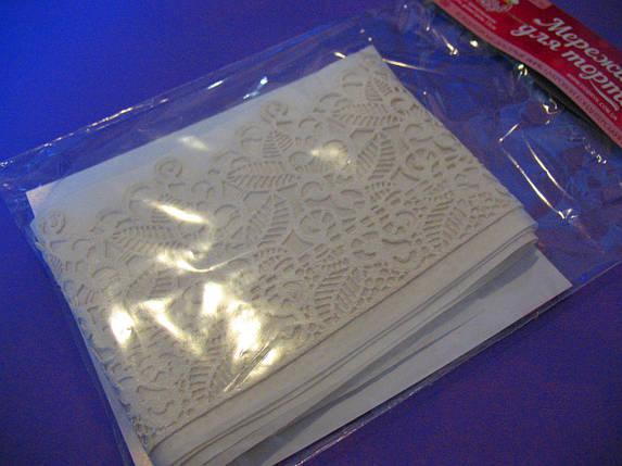 Готовое кружево для торта Гавайские цветы №3 Белое, фото 2